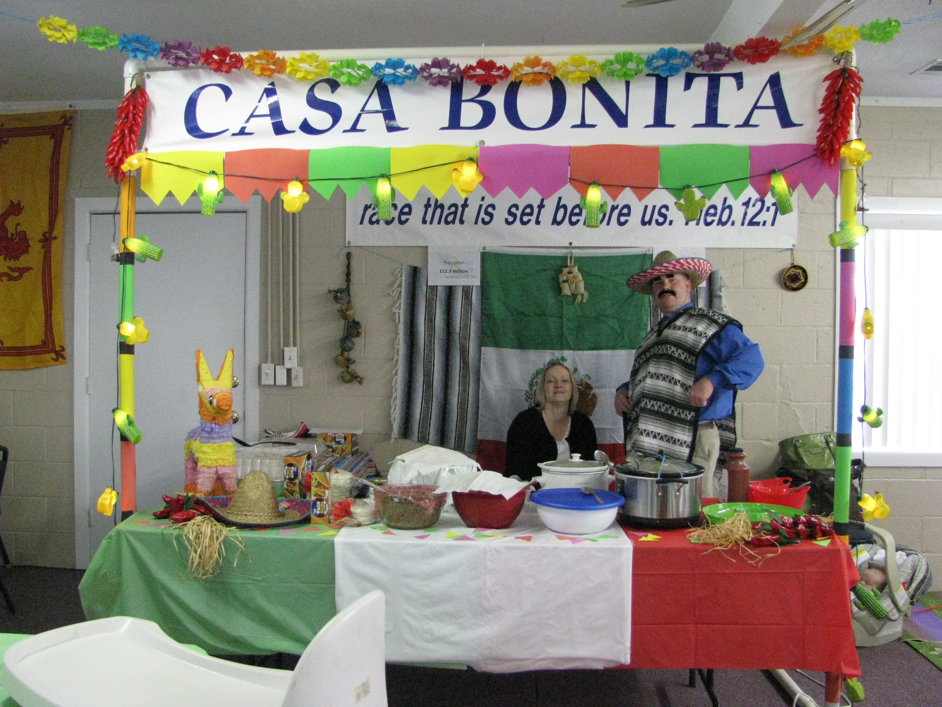 Missions Conference Banquet Mexican Booth